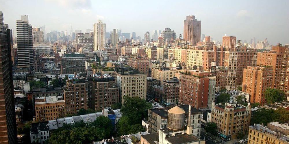 Vista aérea del Upper East Side.