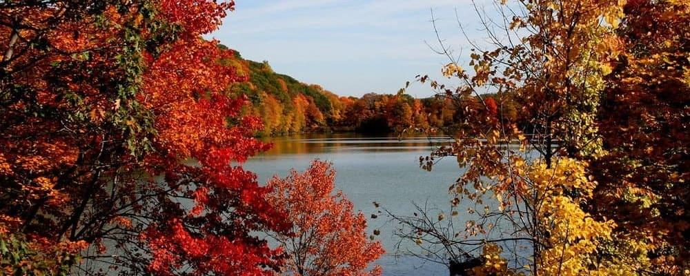 Vista del río Hudson en una de las montañas cercanas al pueblo.