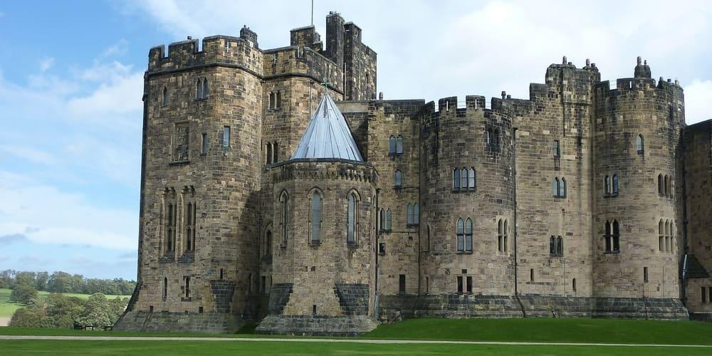 Imagen panorámica del castillo de Alnwick.