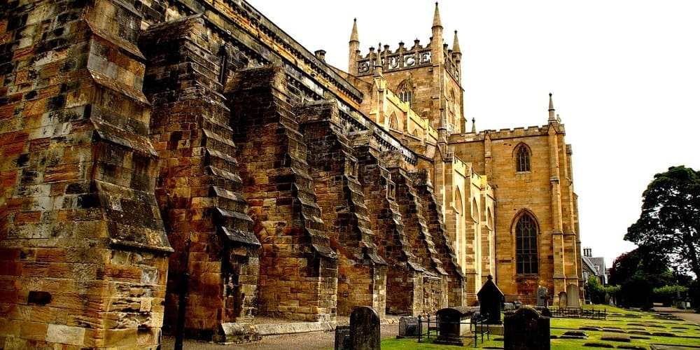 Fotografía de la abadía de Dunfermline.