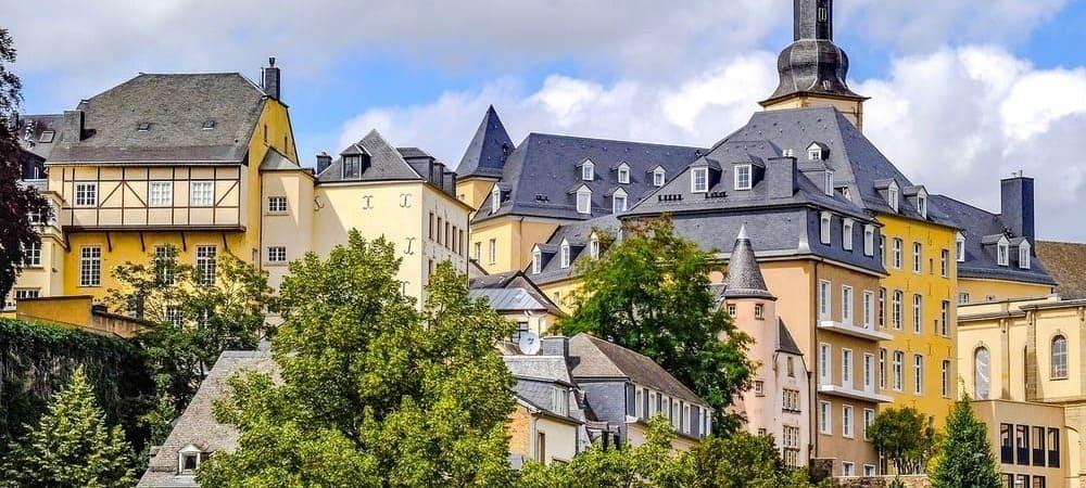 Fotografía de los edificios de Luxemburgo.