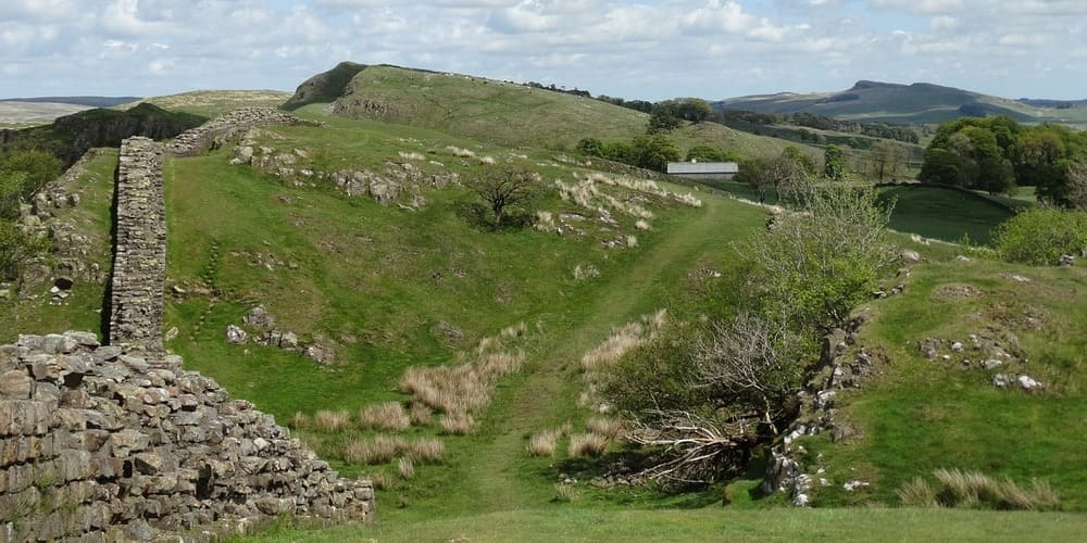 Parte del muro de Adriano en el parque de Northumberland.