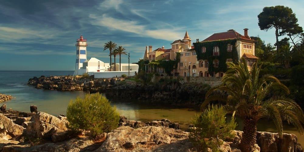 Costa de Cascais fotografiada en la excursión desde Lisboa.