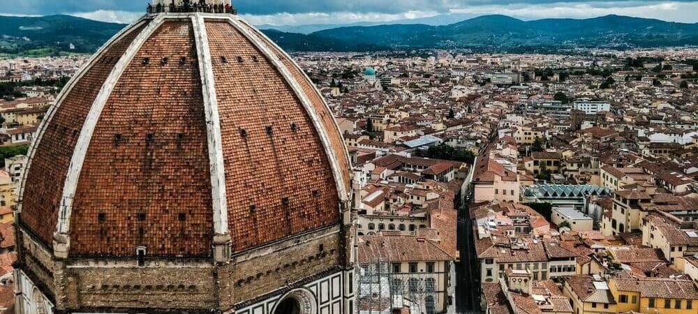 Vista aérea de la Catedral de Santa María dei Fiore.
