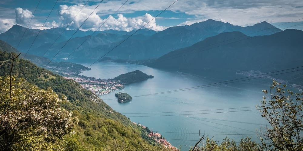 Vista del Lago di Como durante una de las excursiones desde Milán