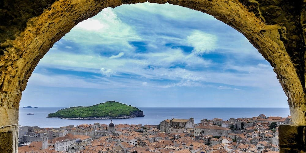Paisaje de Dubrovnik desde la muralla.