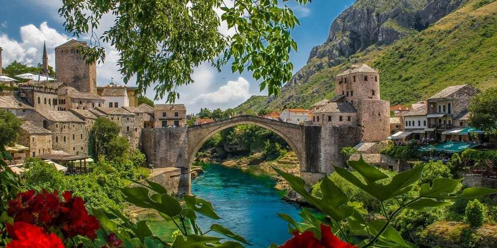 Panorámica durante las excursiones desde Split a Mostar.