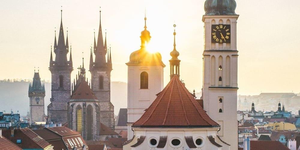 Fotografía aérea de Praga.
