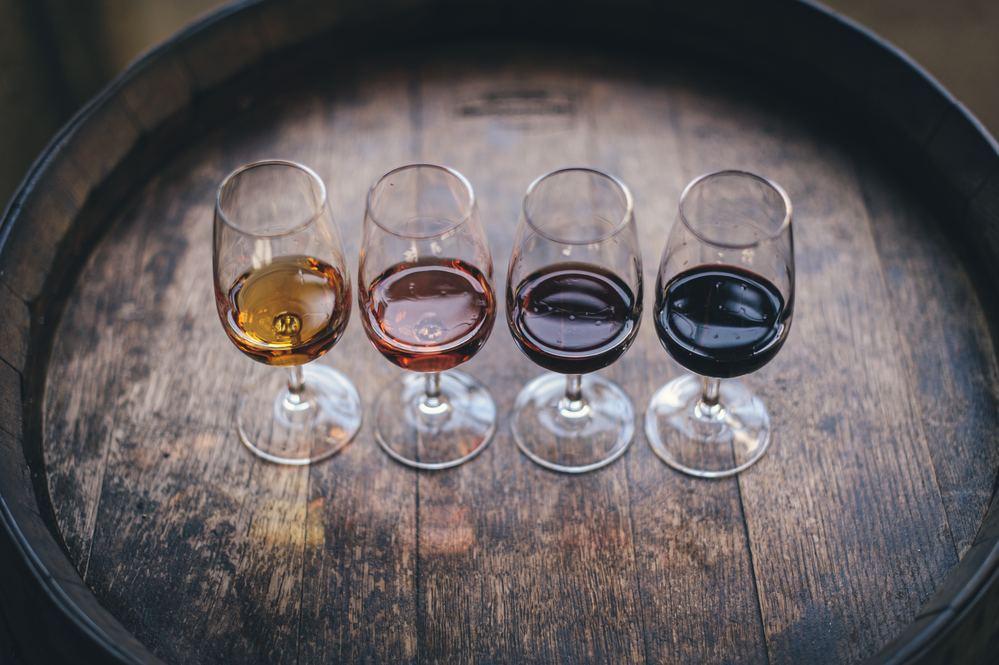 Diferentes vino de Oporto que se pueden probar en sus bodegas