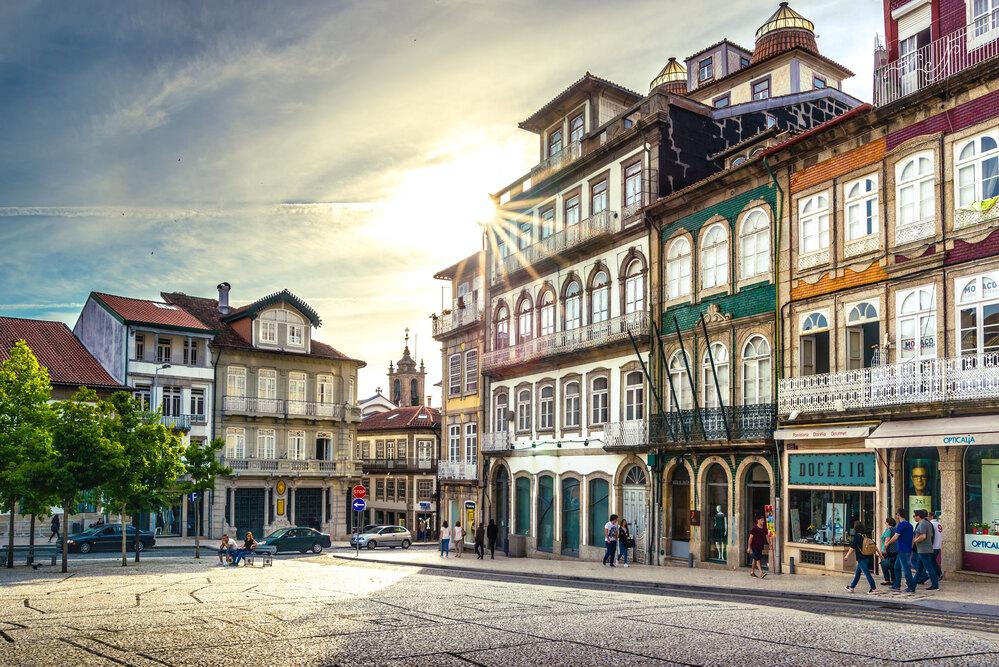 Guimaraes es la ciudad medieval de Portugal