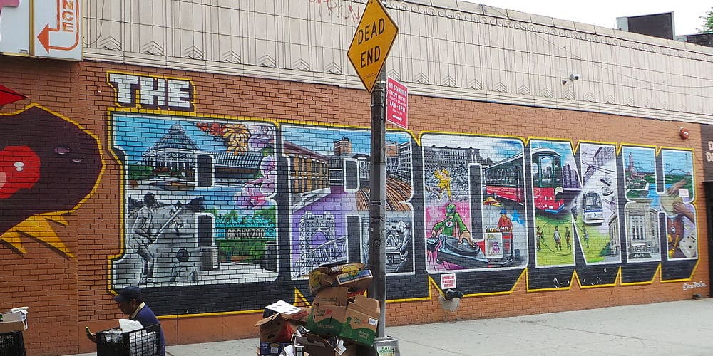Mural de graffiti en el Bronx