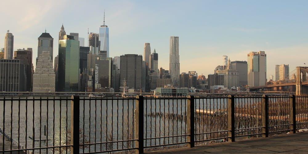 Vistas de Manhattan desde el barrio de Brooklyn Heighs