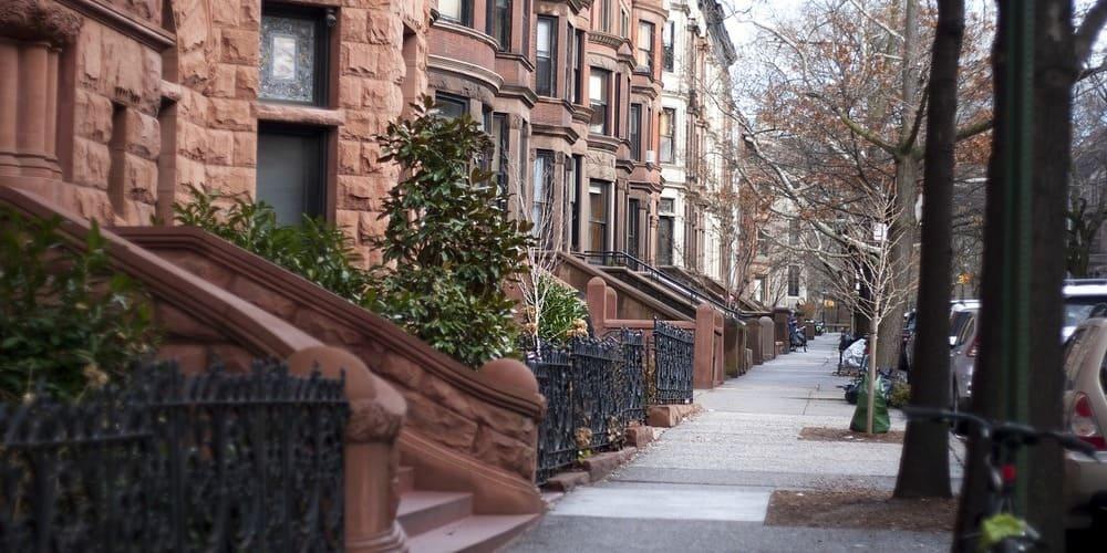 Casas típicas neoyorquinas en Park Slope
