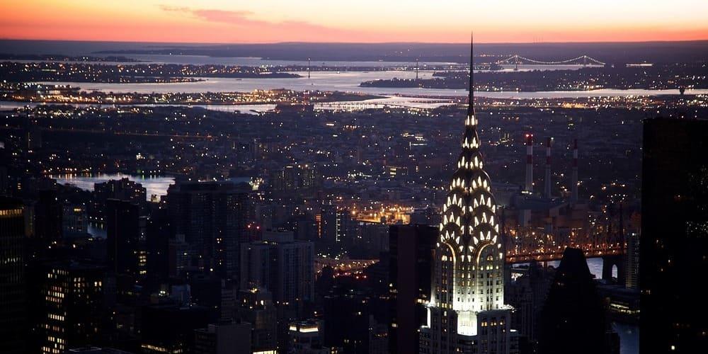 Visión desde el Rockefeller Centre en Nueva York.