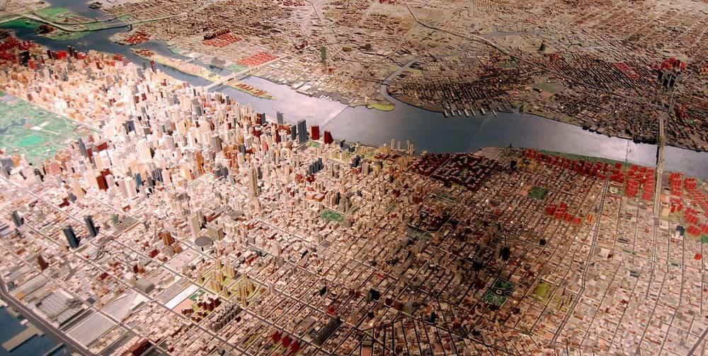 Museos en Queens en Nueva York - maqueta Panorama del Museo de arte