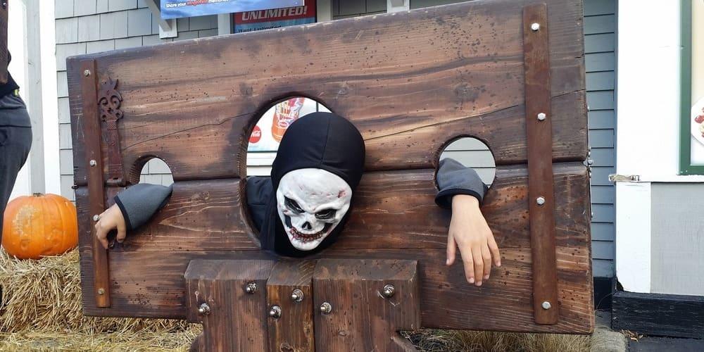 Disfraz de un participante en el festival más terrorífico