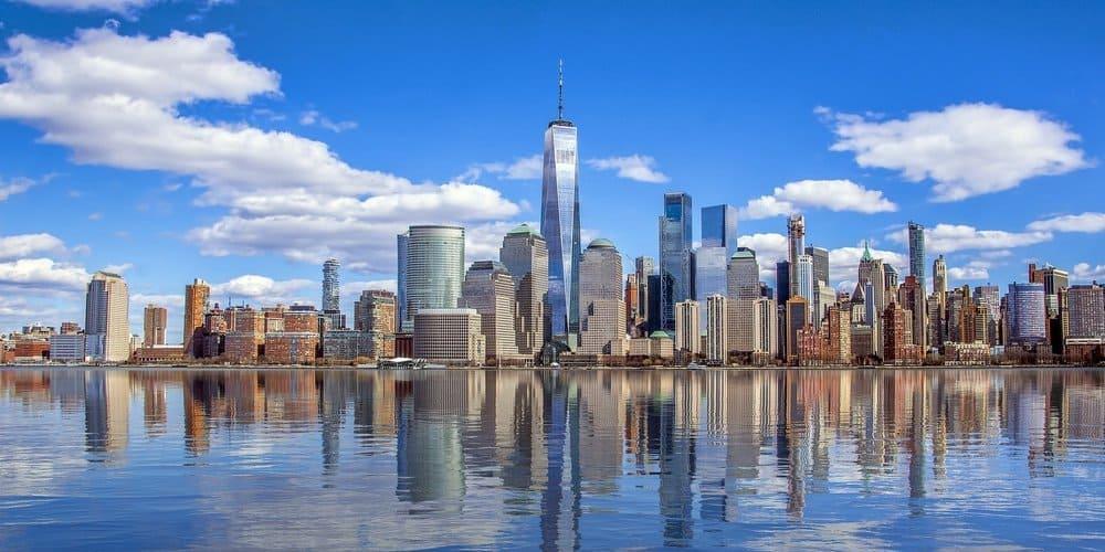 Distrito de Manhattan durante el viaje a Nueva York con niños.