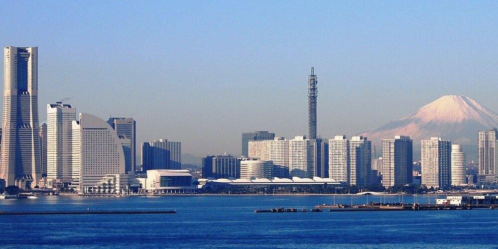 Vista de la ciudad de Yokohama en un tour desde Tokio