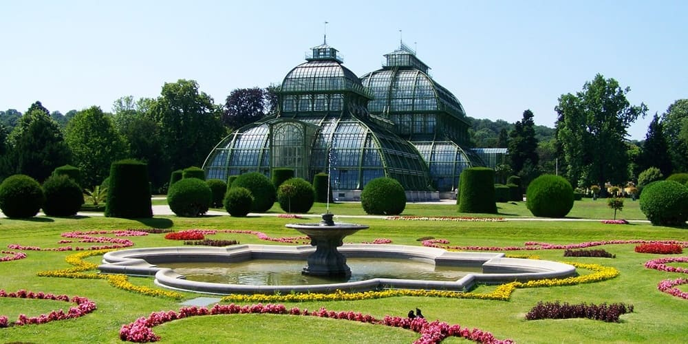 Fotogracia de la Casa de Palma situada en el Palacio de Schönbrunn