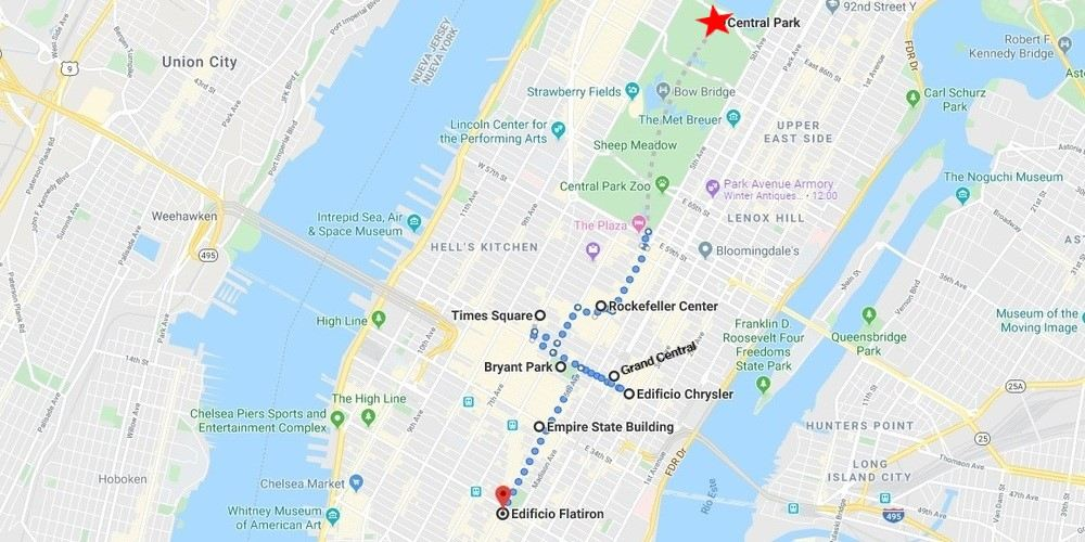 Itinerario en Manhattan para disfrutar de Nueva York en 3 días.