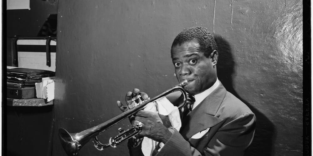 El músico de jazz Louis Amstrong
