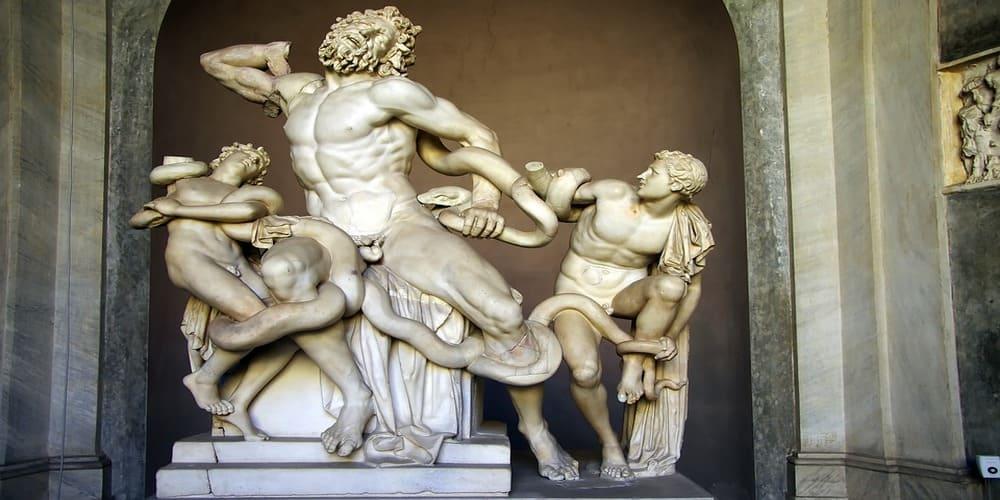 Estatua de Laocoonte y sus hijos en los Museos Vatianos