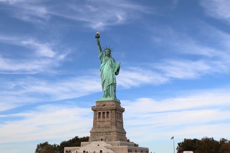 La Estatua de la libertad en Ellis Island