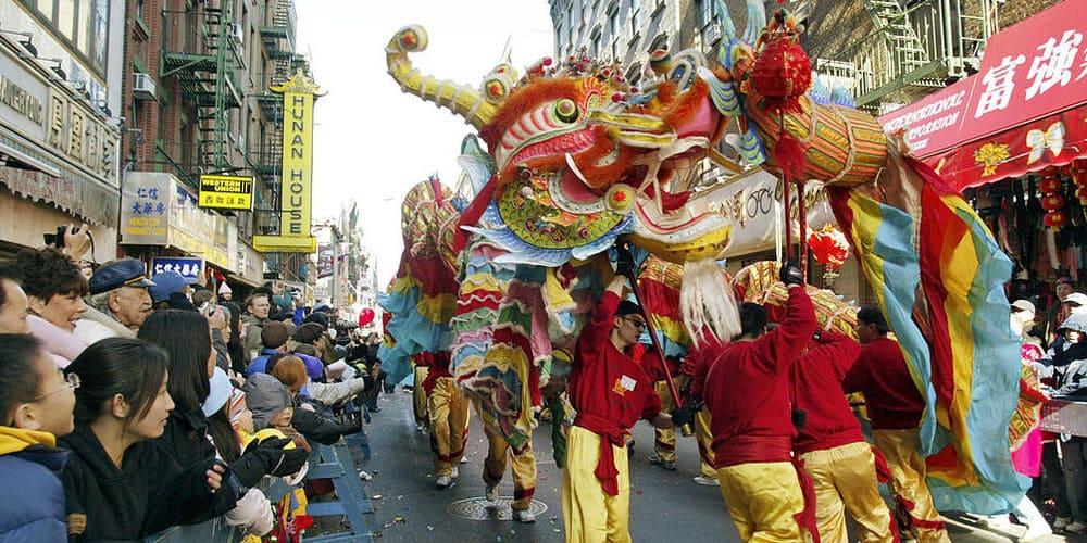 Celebración en Chinatown