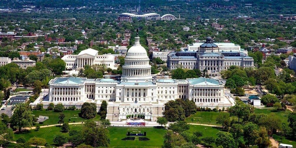 Vista del edificio del Capitolio en Nueva York