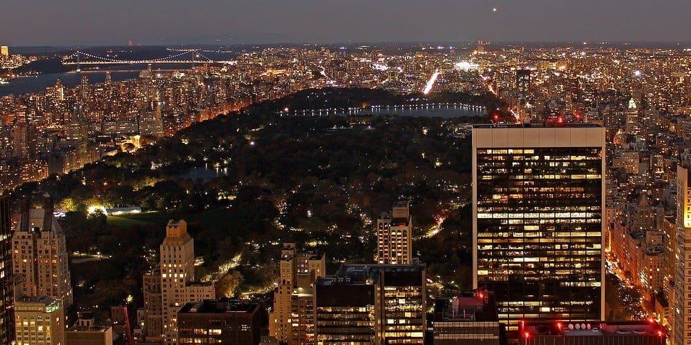 Vista de pájaro de Central Park