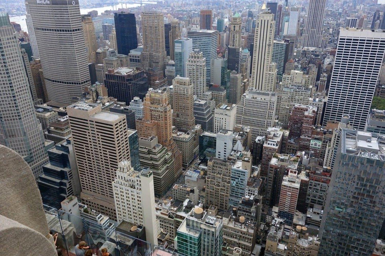 Vistas desde lo alto de un rascacielos en Nueva York