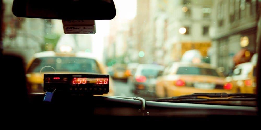 Taxímetro de un cab en Nueva York.