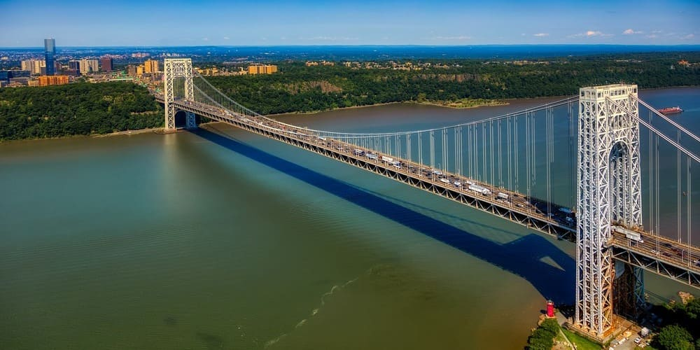 George Washington Bridge entre Nueva Jersey y Manhattan