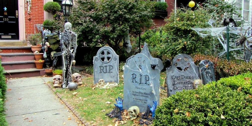 Casa decorada de Halloween en el Soho.
