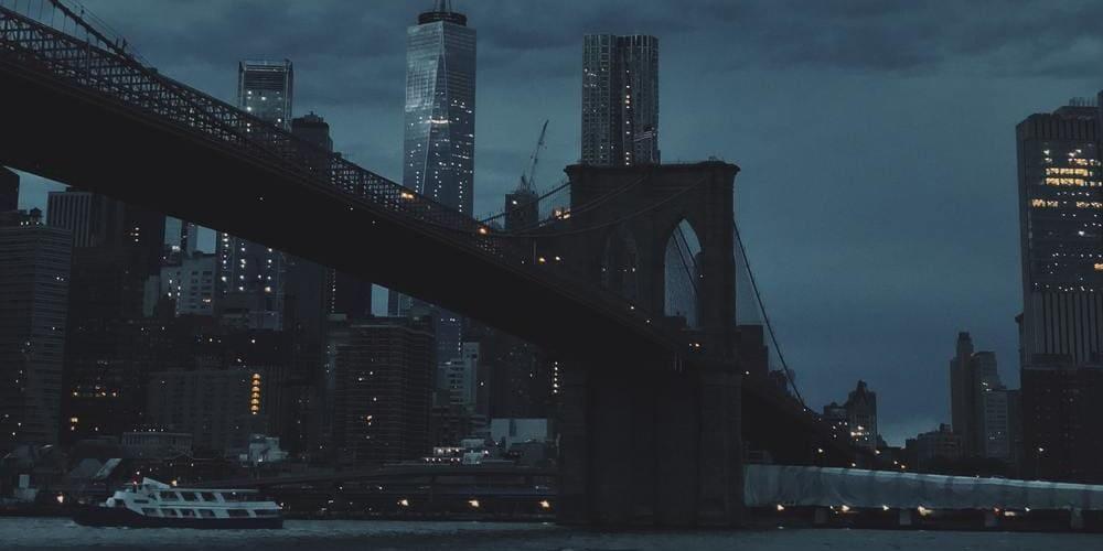 El distrito de Manhattan en Halloween.