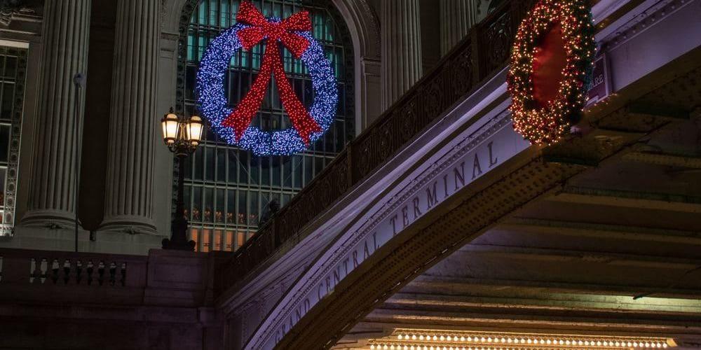 Entrada al Grand Central Terminal en Navidad.