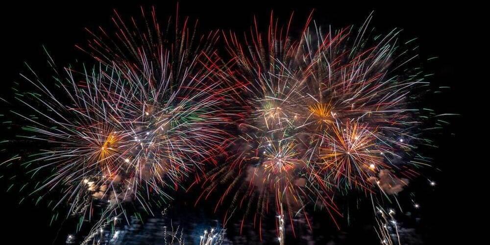 Fuegos artificiales de fin de año.