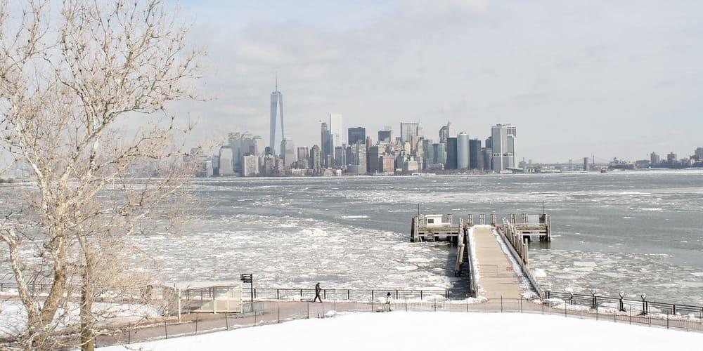 Panorámica de Nueva York en invierno.