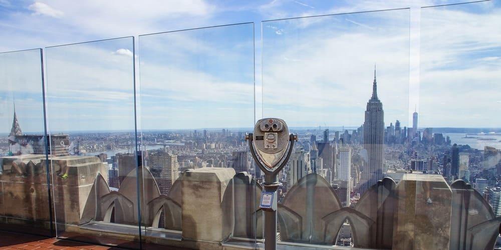Vistas de Nueva York desde el Empire State en Nueva York.