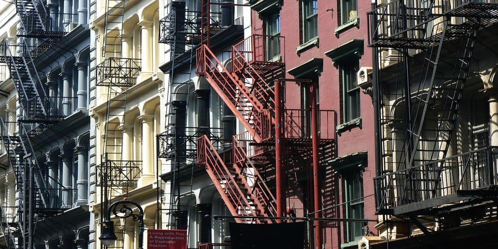 famosas escaleras en Soho