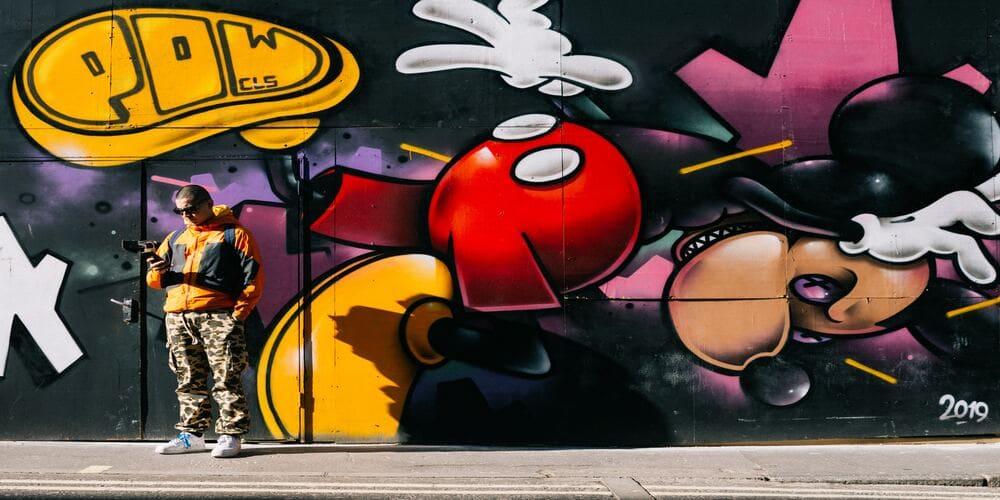 Una de las obras urbanas que puedes ver en Soho en Nueva York