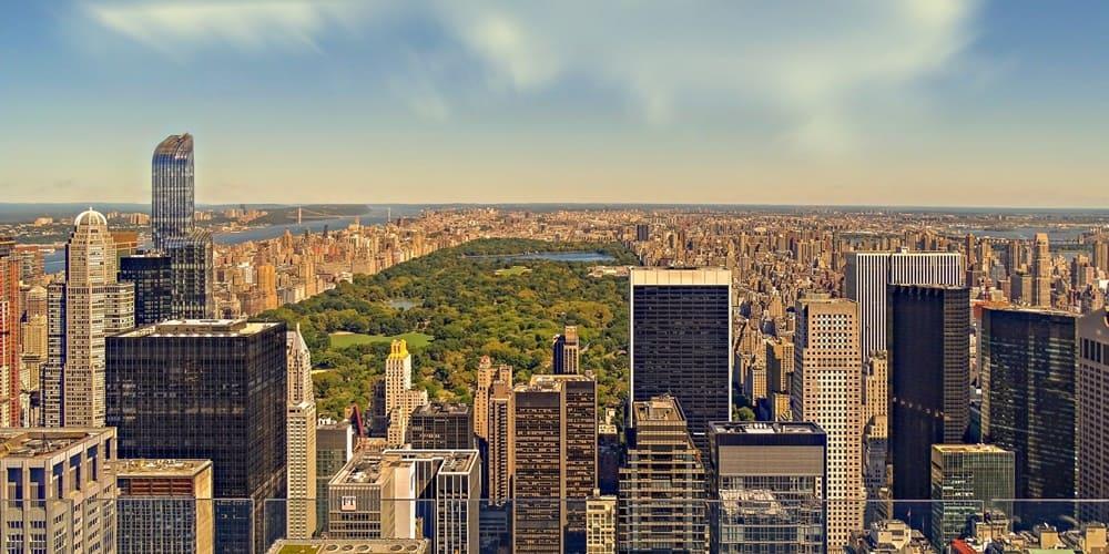 Panorámica de Central park en Nueva York