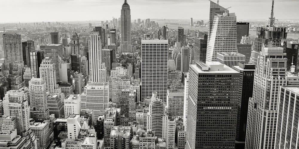 Panorámica de los rascacielos de Nueva York