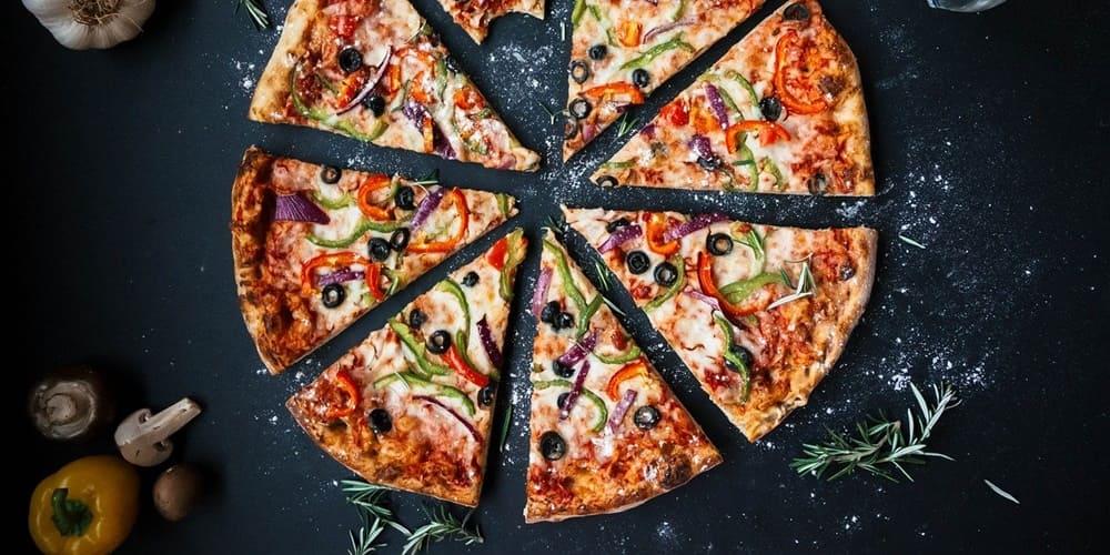 Pizza en el barrio italiano de Nueva York