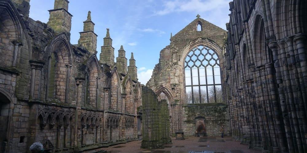 Abadía de Holyrood en Edimburgo.