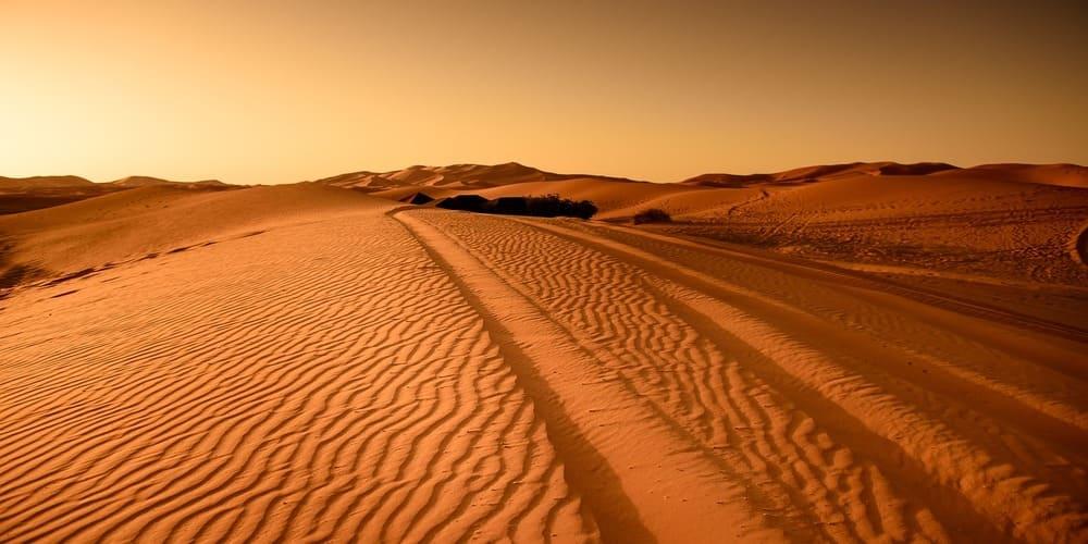 El clima en Marrakech en abril en el desierto