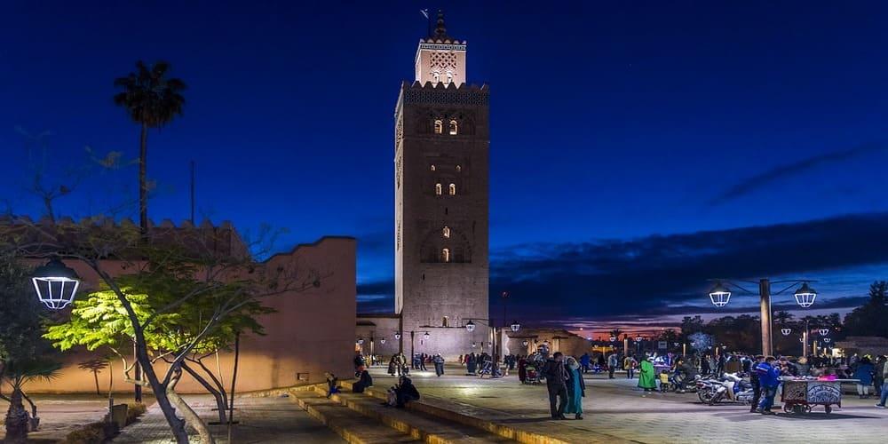 El tiempo en Marrakech en abril en el centro de la ciudad