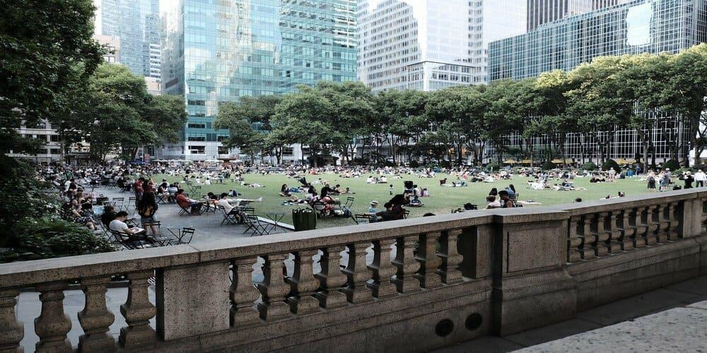El tiempo en abril en Nueva York en Central Park