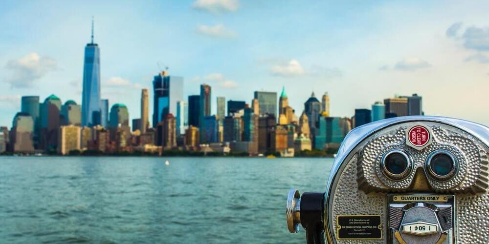 Buenas vistas gracias al tiempo en Nueva York en julio.