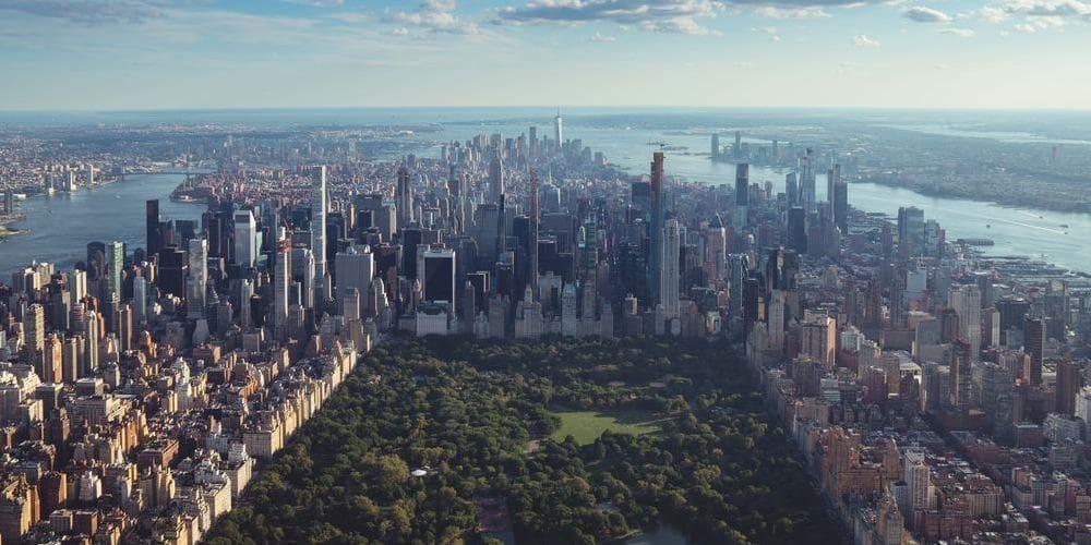 Nueva York desde el helicóptero.